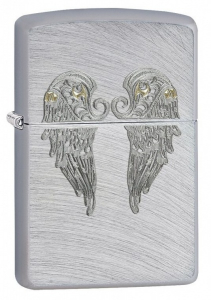 Bilde av Zippo - Angel Wings - Brushed Chrome