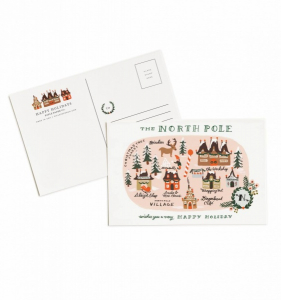 Bilde av North Pole 10pk julekort Rifle Paper Co