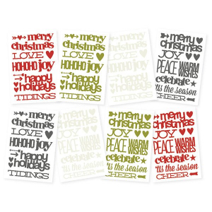 Diy stickers christmas sentiment